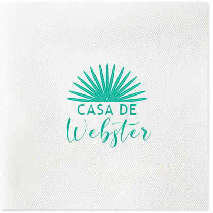 casa de last name cocktail napkin