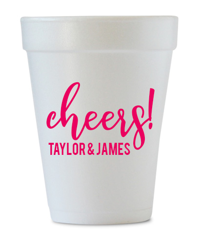 custom engagement styrofoam cups