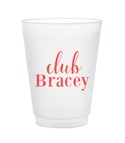 Club Last Name Frost Flex Cups