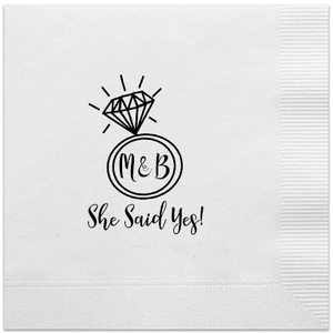 personalized engagment napkins