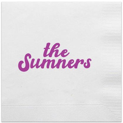personalized last name napkins