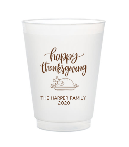 personalized thanksgiving cups
