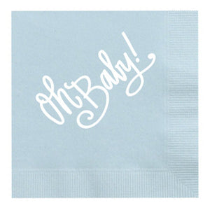 oh baby blue napkins