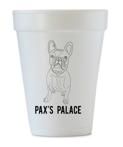 custom dog foam cups