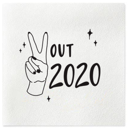 peace out 2020 linun napkins