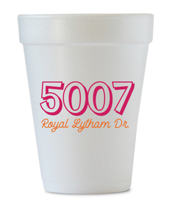 house warming gift styrofoam cups