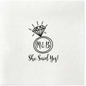 personalized engagement napkins