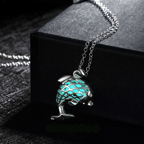 Dolphin Aroma Stone Necklace