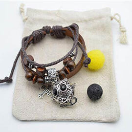 Leather Owl Diffuser Bracelet