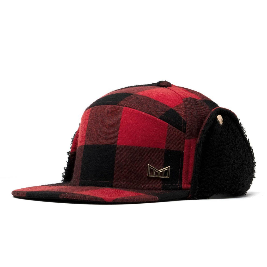 24adc8a90fd8b Lumberjack Men s Winter Flannel Strapback Hat with Ear Flaps - Melin