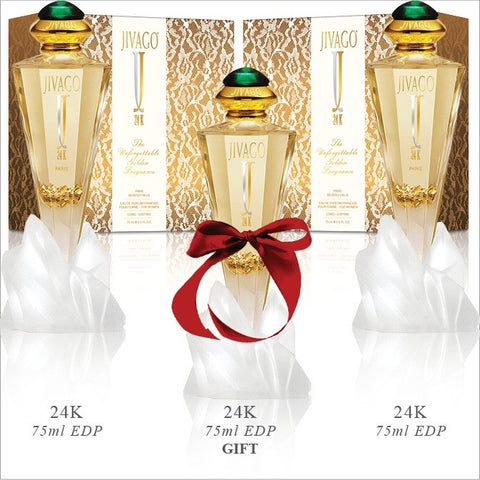 Jivago 24K for Women EDP x3