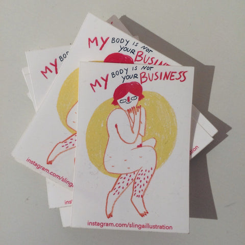 Sticker My Body My Business
