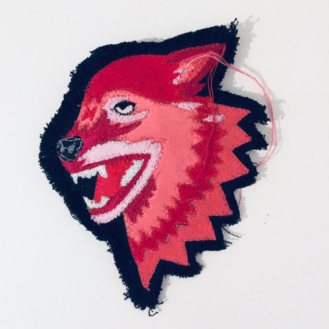 Stoffbrosche Fire Red Wolf