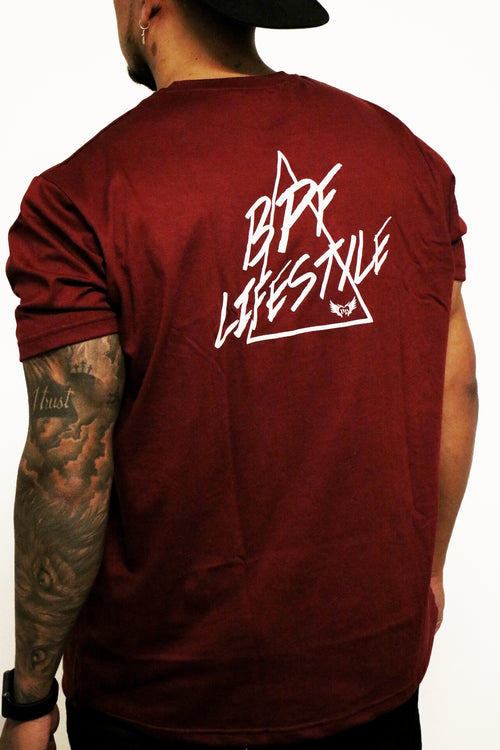 Lifestyle Tee (Burgundy)