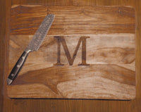 Large Monogram Custom Cutting Board - Duel Design Studio - 3