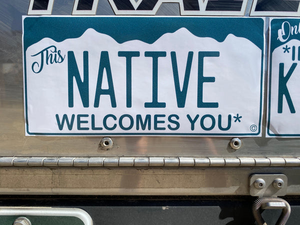 "Friendly Colorado Native Bumper Sticker ""This Native Welcomes You"""