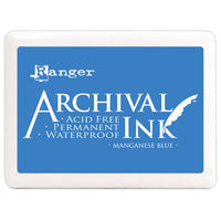 "Manganese Blue Jumbo 4""x6"" Ink Pad - Ranger Acid Free Permanent Archival Ink - Duel Design Studio - 1"