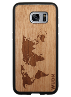 Slim Wooden Phone Case | World Map Traveler