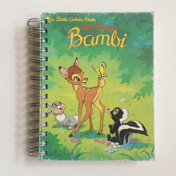Sketch book notebook upcycled vintage disney bambi hardback - Duel Design Studio - 1