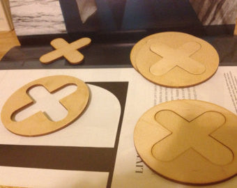 XO Tic Tac Toe Game Coasters - Duel Design Studio - 1