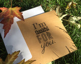 I'm Thankful For You Kraft Greeting Card - Duel Design Studio - 4