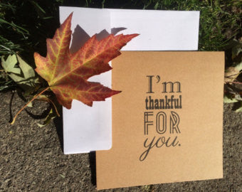I'm Thankful For You Kraft Greeting Card - Duel Design Studio - 1