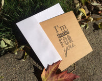 I'm Thankful For You Kraft Greeting Card - Duel Design Studio - 2