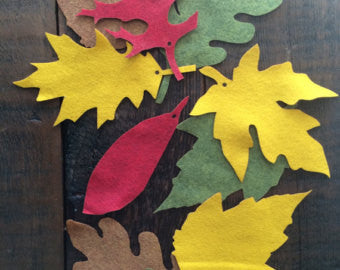 Festive Fall Felt Leaves Garland Kit - Duel Design Studio - 1