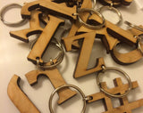 Wood Monogram Initial Key Chain - Duel Design Studio - 1