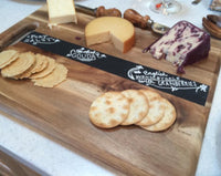 Chalkboard Cutting Board Cheese Tray - Duel Design Studio - 2