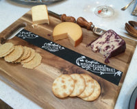 Chalkboard Cutting Board Cheese Tray - Duel Design Studio - 4