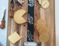 Chalkboard Cutting Board Cheese Tray - Duel Design Studio - 5