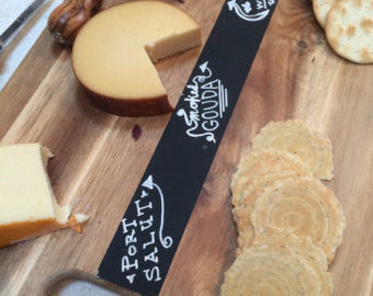 Chalkboard Cutting Board Cheese Tray - Duel Design Studio - 1