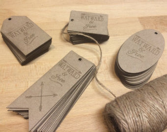 Laser Cut Product Hang Tags - Duel Design Studio - 1