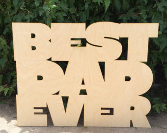 Jumbo Wood Word Sign - Duel Design Studio - 1