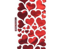 Metallic Red Foil Heart Stickers - Duel Design Studio