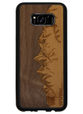 Slim Wooden Phone Case | Sawtooth Mountains Walnut Sky