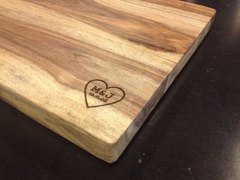 Engraved Names Cutting Board - Duel Design Studio - 1