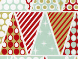 Retro Chevron Stone Wrap Holiday Wrapping Paper - Duel Design Studio - 6