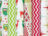 Retro Chevron Stone Wrap Holiday Wrapping Paper - Duel Design Studio - 1