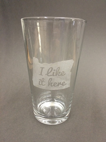 I Like It Here State Love Pint Glass - Duel Design Studio - 1
