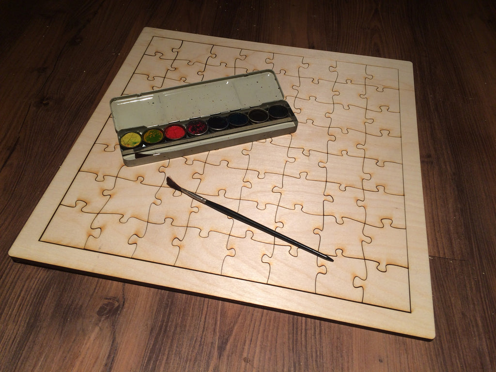 Blank Wooden Puzzle Toy For Artists To Paint Duel Design