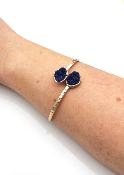 Crystalline Blue Smoke Bangle