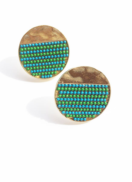 Club Tropicana Disc Earrings