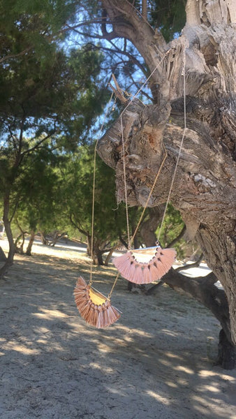 The Amazonian Pink Fringed Pendant