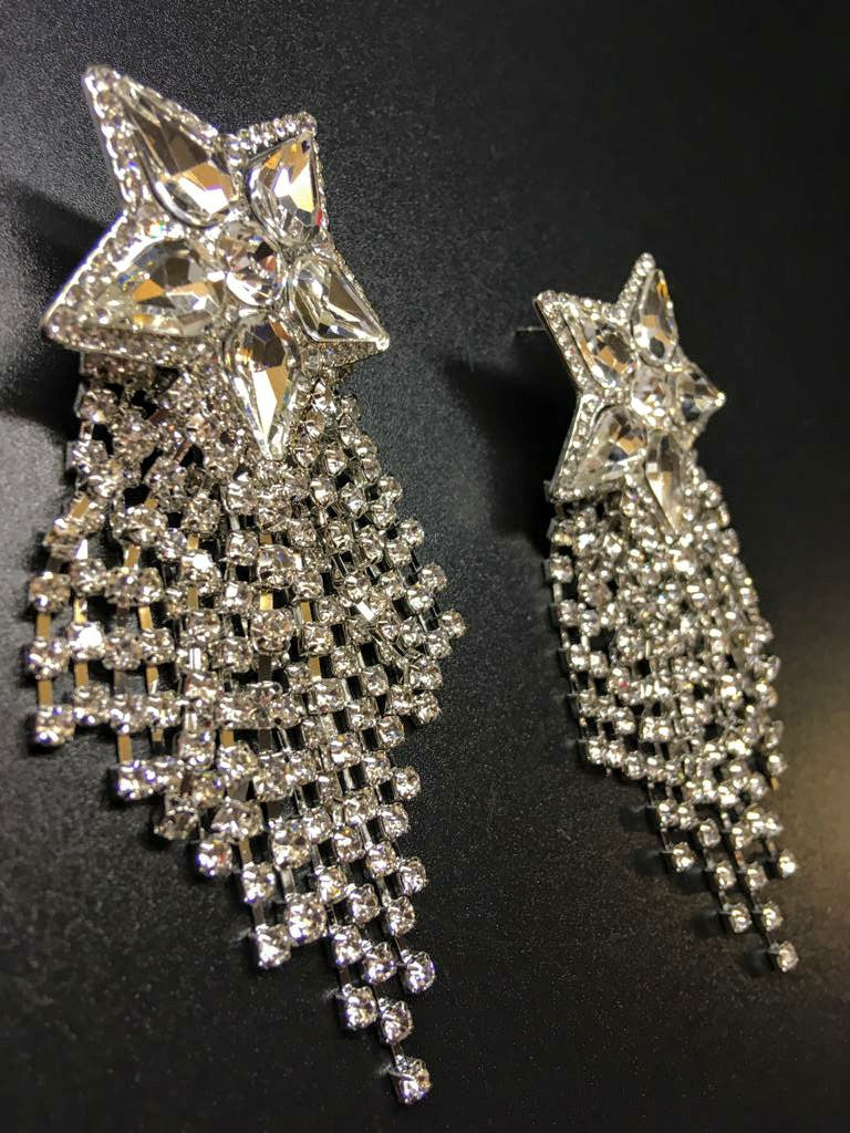 Disco Fever Star Drop Earrings