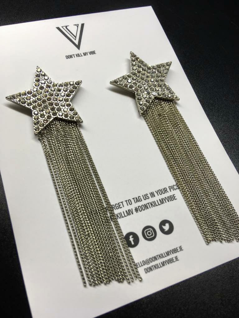 The Supernova Star Drop Earrings