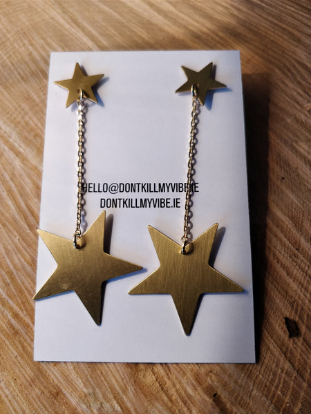 Ziggy Stardust -Gold Earrings