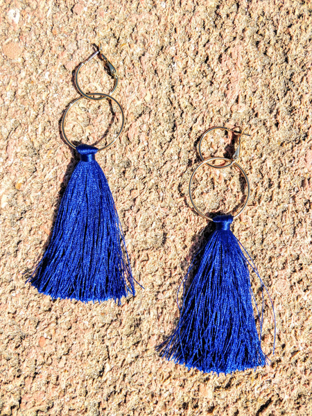 The Blue Azure Hoop Earrings