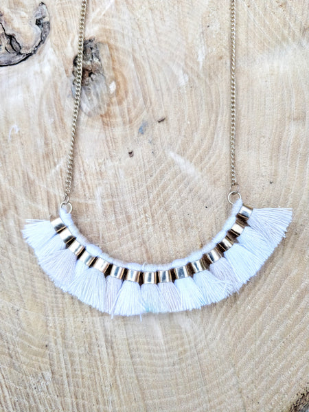 The Stone Fringe Pendant Necklaces